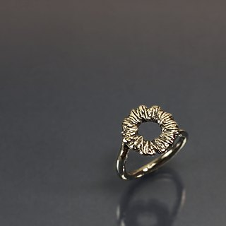 Small wreath 925 silver ring