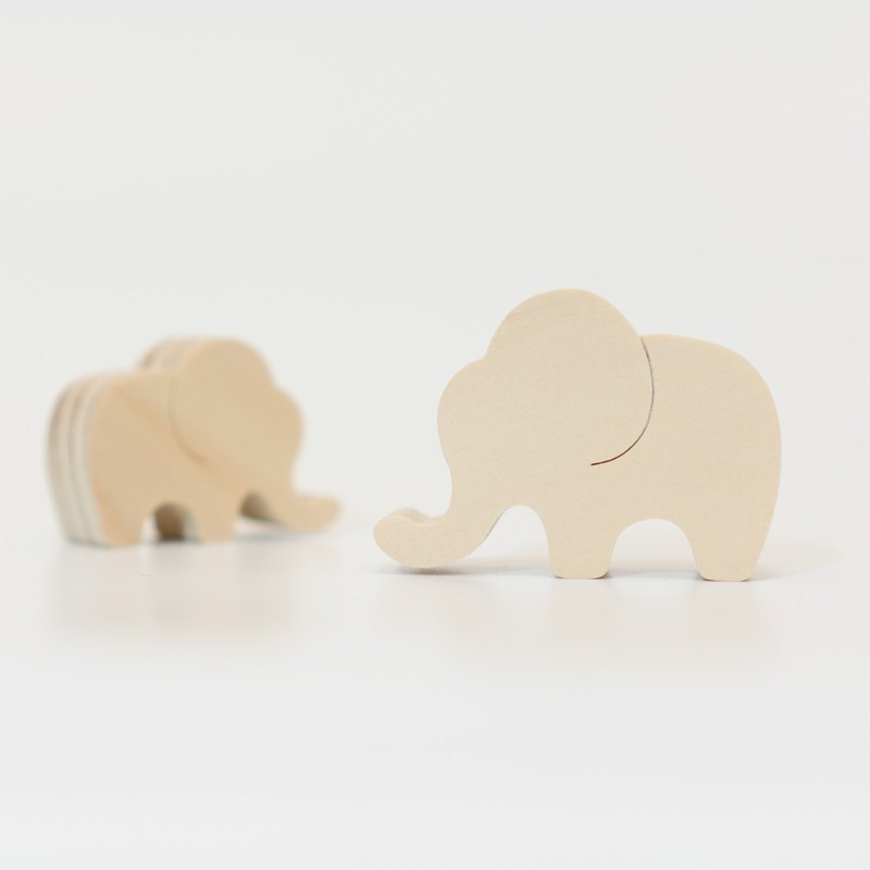 wagaZOO thick cut shape building blocks grassland series - elephant