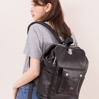 [Chinese Valentine's Day gift 61% off] 2018 twin series - Shikou bag - leather black / seamless removal