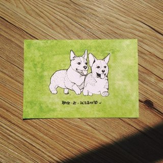 【Animal Series】Corgi Bros Colouring Postcard