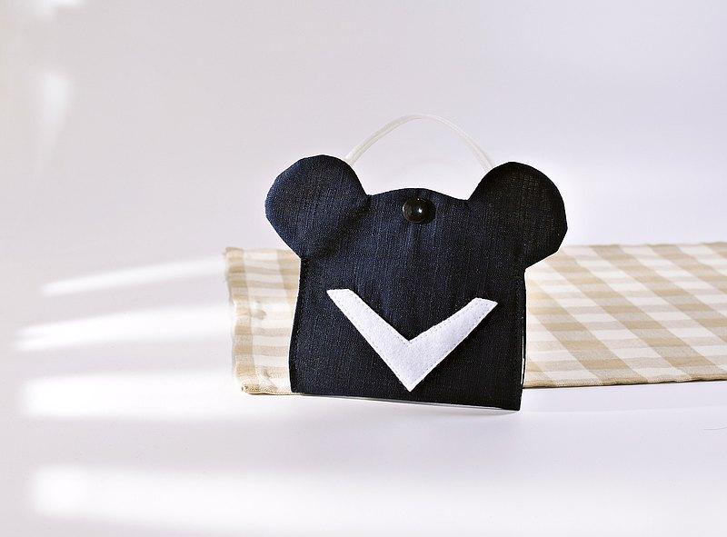 台灣黑熊意象 口罩收納夾/口罩暫放袋 Mask Keeper