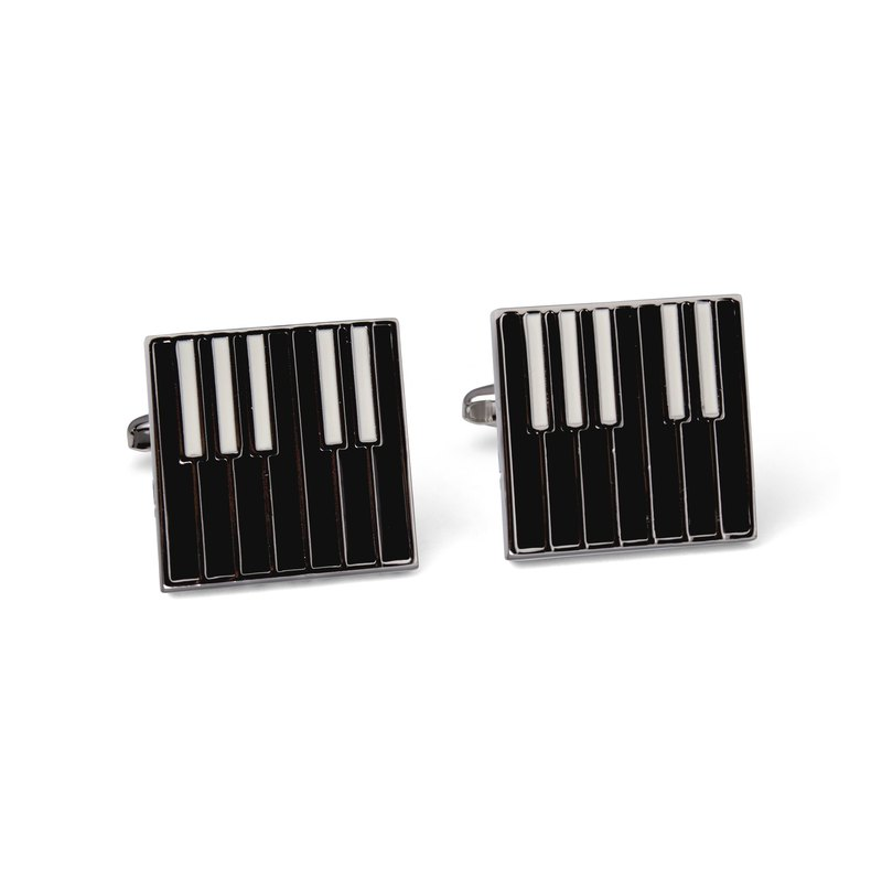 Piano Cufflinks in Black and White