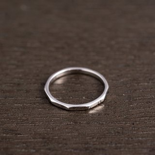 Shaped Sterling Silver Ring
