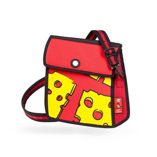 JumpFromPaper Cheese Printed Red Shoulder Bag