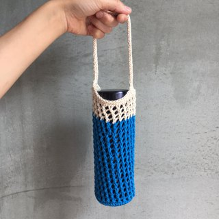 Mesh woven kettle bag beverage bag Mt. Fuji