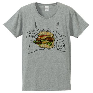 T-shirt / Diet is messed up when you eat this (Gray)