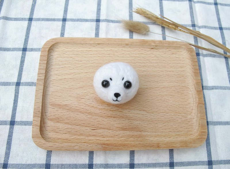 Needle Felt Sea Animal Seal Brooch