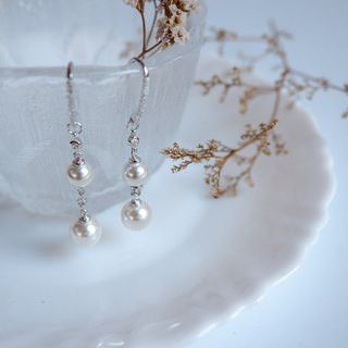 Statement dangle earrings with Swarovski Pearls