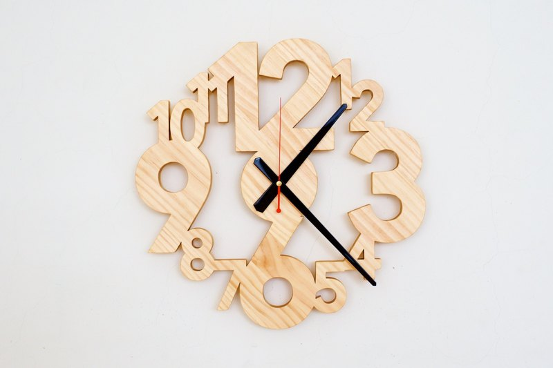 Hand cut one-piece digital mute clock