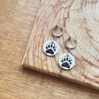 White Bear - Meat Ball Series - Needle Clip Earrings