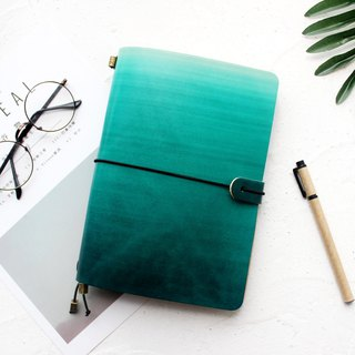 Graduation gift green A5 handbook leather notebook / diary / travel book can be customized