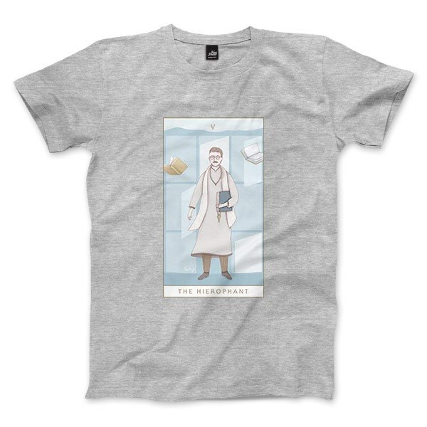 V | The Hierophant - Deep Heather Grey - Unisex T-Shirt