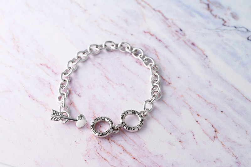 Heart Lock Series Cupid Arrow Shape Bracelet
