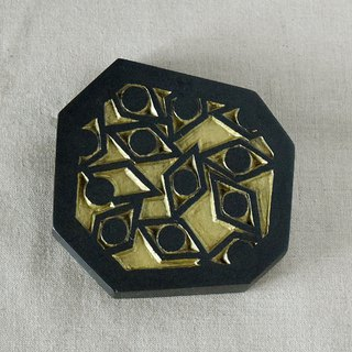 Geometric Hand Mirror Mini (sharp eyes - black)