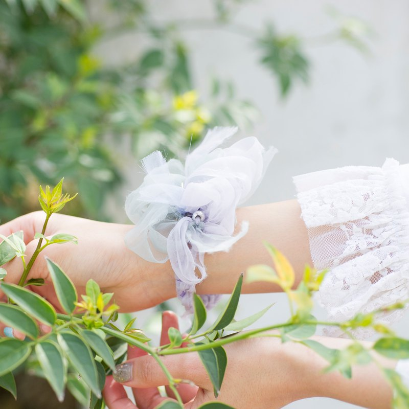 mini || Viola || Blooming Sakiami Colourful Hair Scrunchy / Hair Accessory