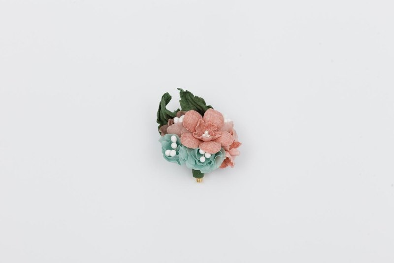 Flower Complex Retro Brooches Corsage Flower Plant Hand Cloth Cotton and Hemp Design