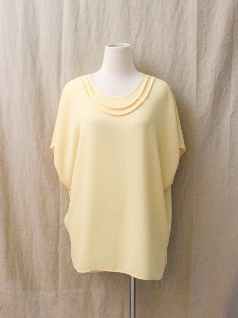Vintage European Summer Loose Yellow Short Sleeve Sleeve Vintage Top