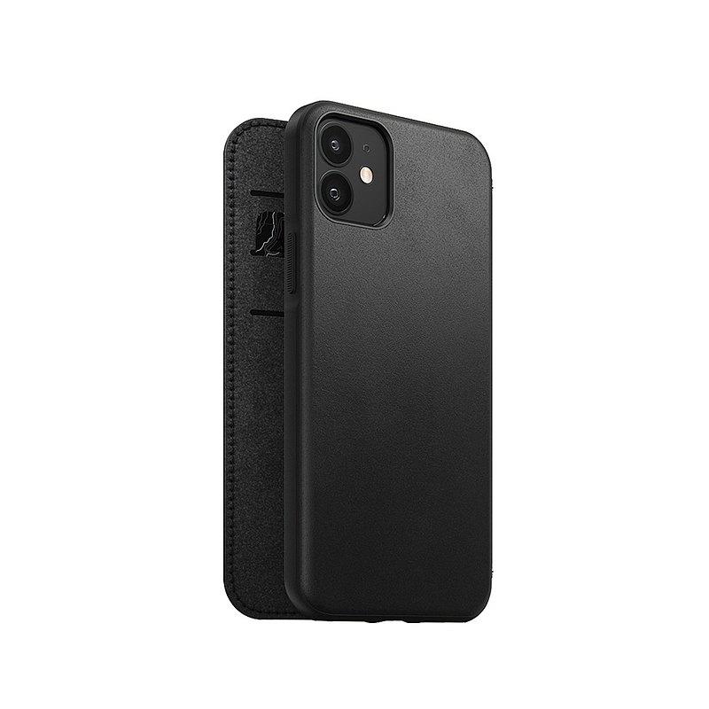 美國NOMAD經典皮革側掀保護套- iPhone 12/12 Pro -黑