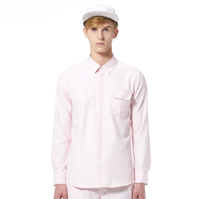 Caveman Shirt - Tallis Light Pink Stripe