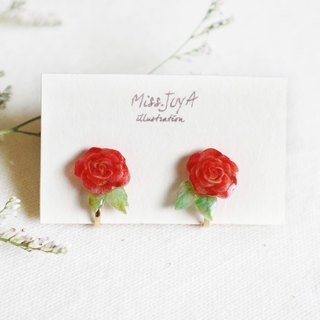 Valentine's Day Rose Earrings