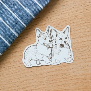 [Animal series # 2 monochrome Kejigeji brothers coloring sticker pack 5