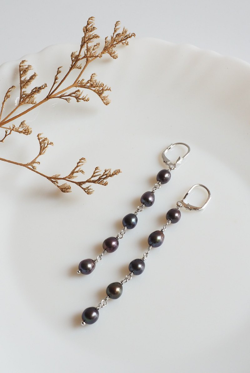Hand-crafted dangle Pearl Earring