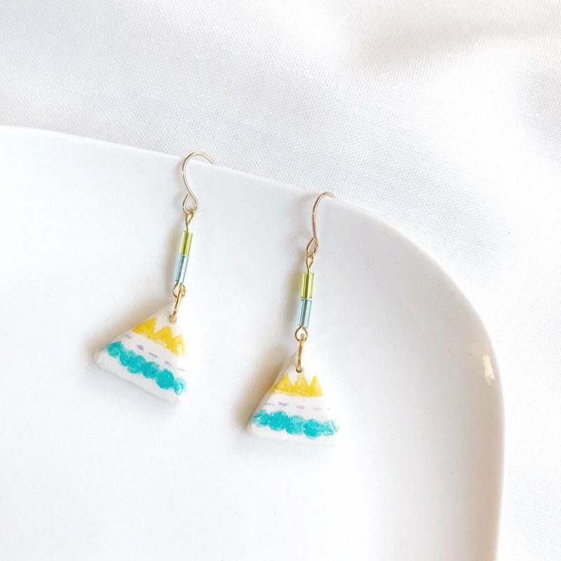 Camping Fun - Handmade / Hand Drawn Earrings