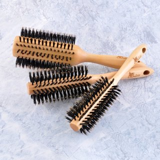 Handmade maple pure bristle roll comb