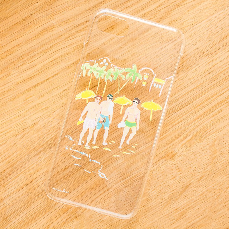 【iPhone/Android】Waikiki Beach PM4:12  Clear (transparent) Smartphone Case