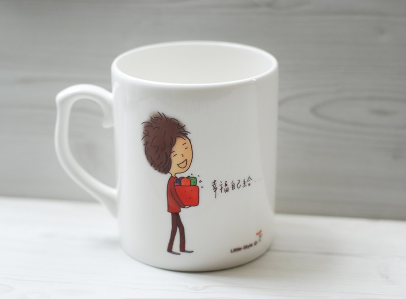 Bone China Mug - Happiness Own (Custom)