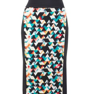 NO FIXED ABODE Geometric Designer Womens Luxury Streetwear Pencil Skirt