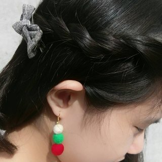 Handmade Felt Single Christmas Earring (Clip-on Available)