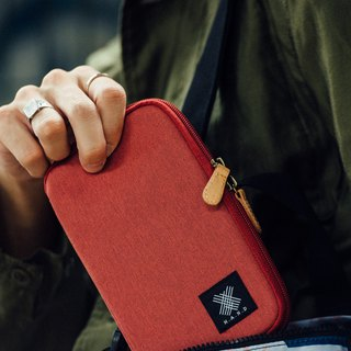 Red/Rust Urban Wallet / Pouch With Zipper