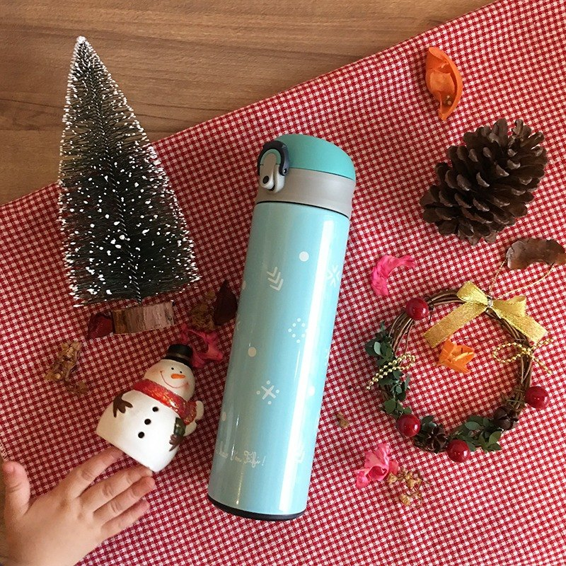 FiFi thermos 480ml-winter sweater (blue)