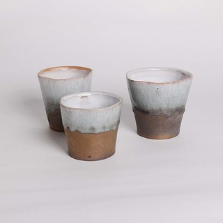 萩 glazed five-point flow gold cup set