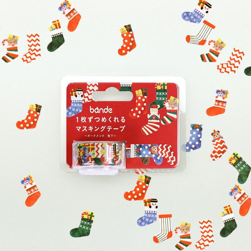 bande masking rolling sticker -- Christmas socks