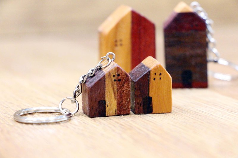 Log splicing small house decoration key ring exchange gift wedding wedding small things