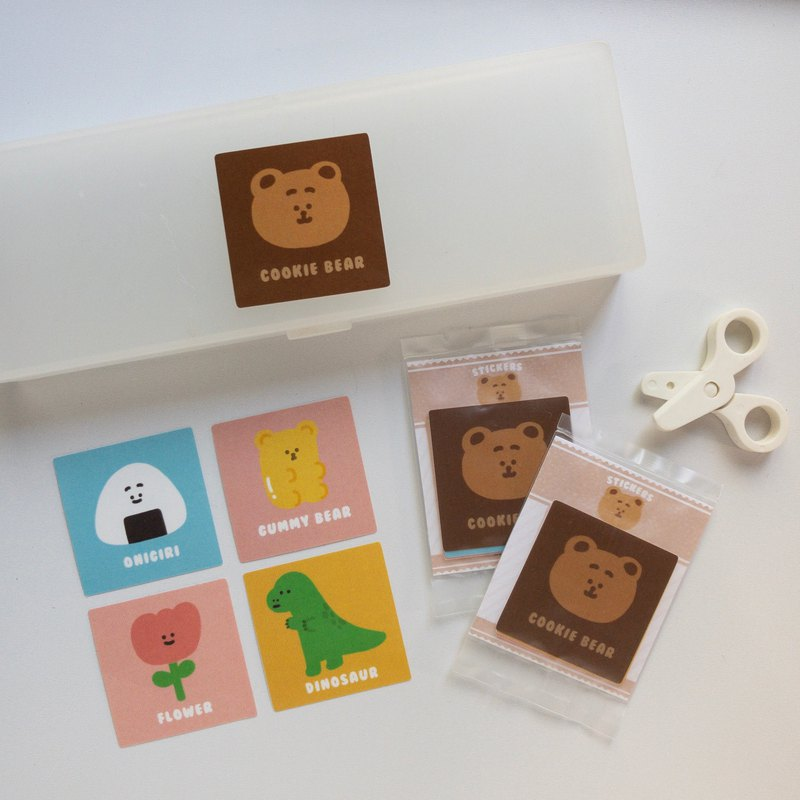 Cute square sticker / 5 in