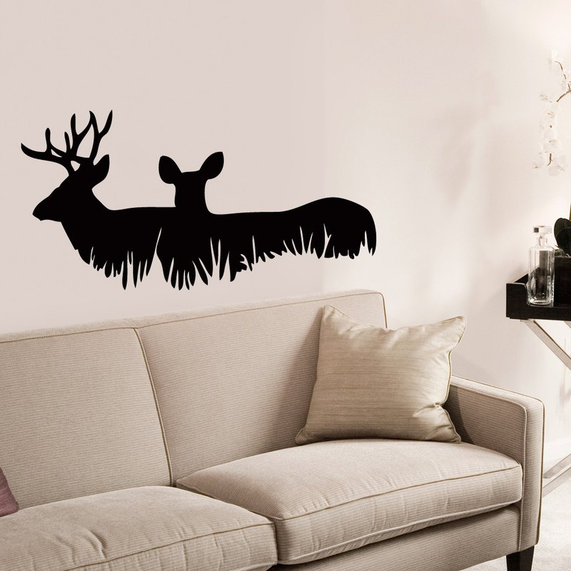 """Smart Design"" Creative Seamless wall stickers ◆ deer with nature 8 color options"