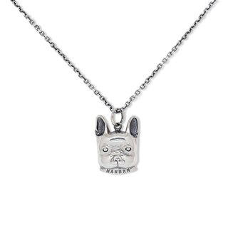 Handmade silver 925 sterling silver bucket baby necklace