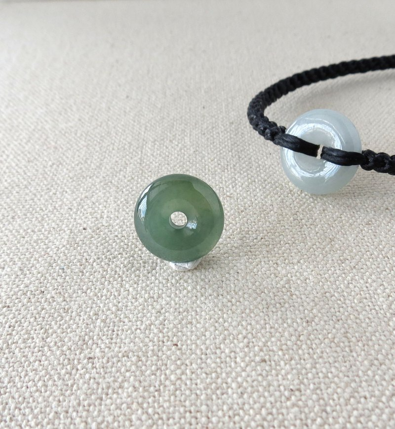The birth year [safety ‧ wish] ice lake water blue jade silk wax bracelet GB02 [eight shares]