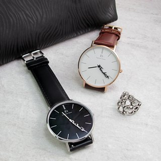 Customized watch couple, intimate watch - Classic leather strap (pair)