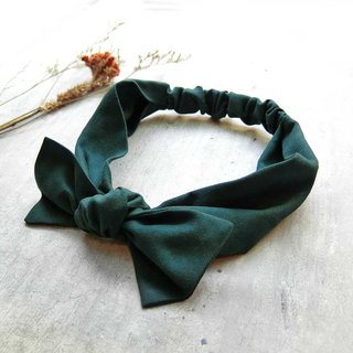 Suede green hair band