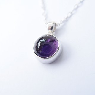 Mysterious Amethyst 925 Silver Necklace
