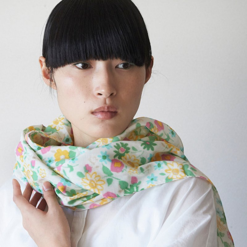 SAKIRA-Kyoto gauze scarf - The wind and Flower