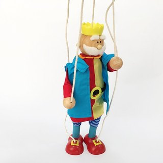 King Wooden Marionette Puppet