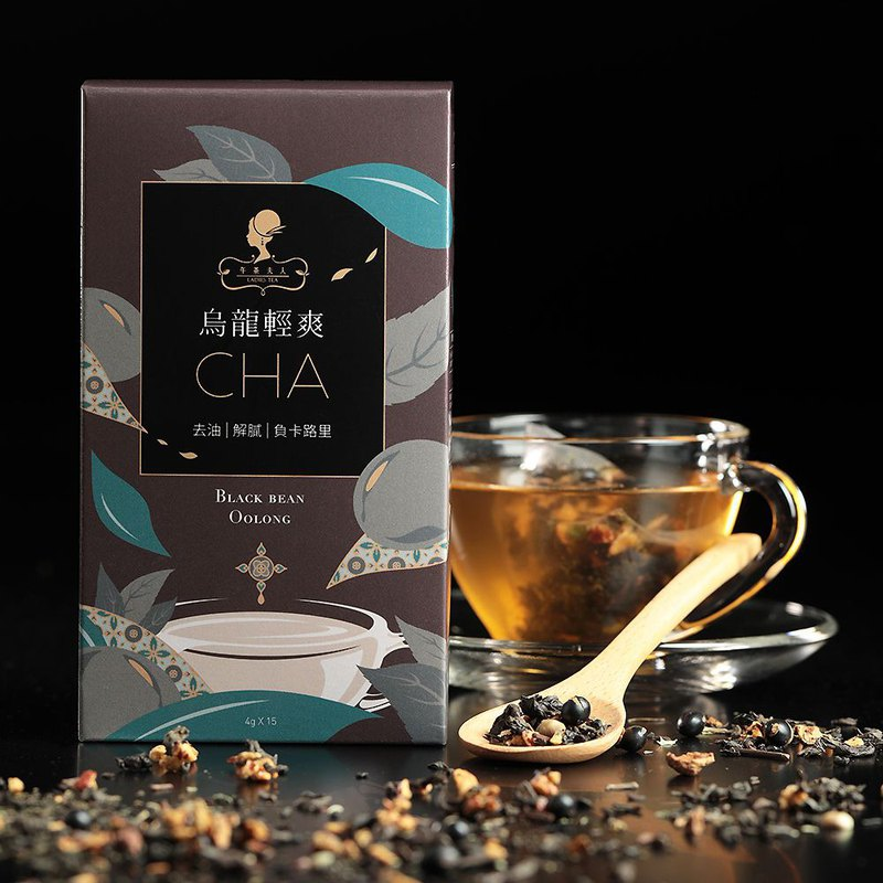 Oolong light tea (15 in / box) │ triangle tea bag ‧ scraping oil and burning