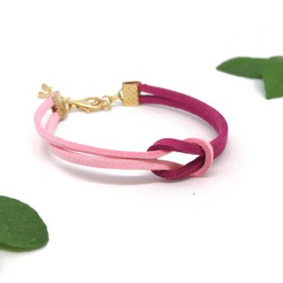 Handmade Simple Stylish Bracelets Rose Gold Series–berry pink limited