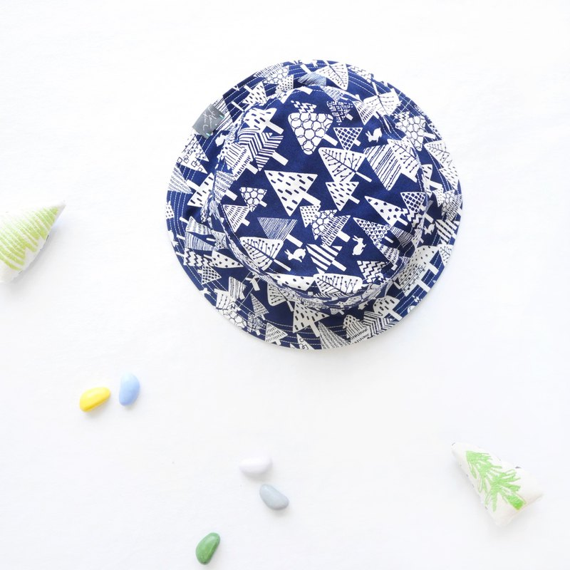 Summer Double Sided Fisherman Hat | Night Forest