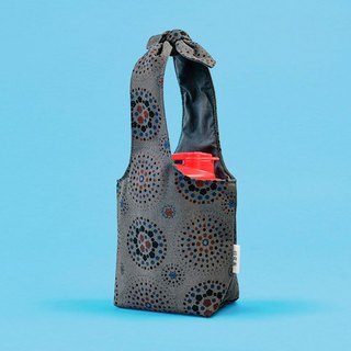 """Fatty Rabbit"" Bottle Holder / Firework / Dark Night Grey"